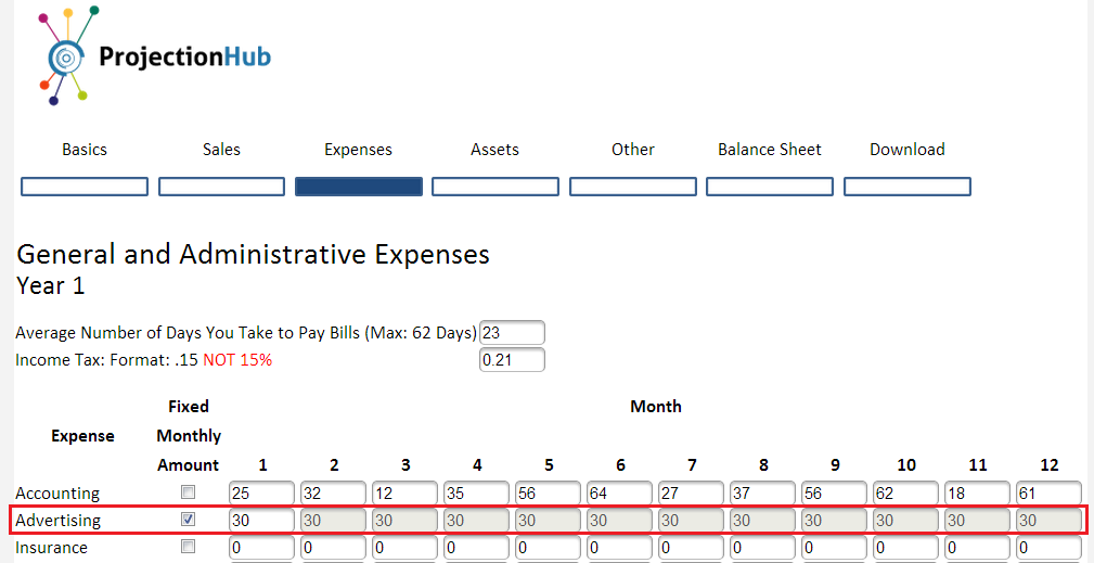 How to Add Custom Expenses to ProjectionHub