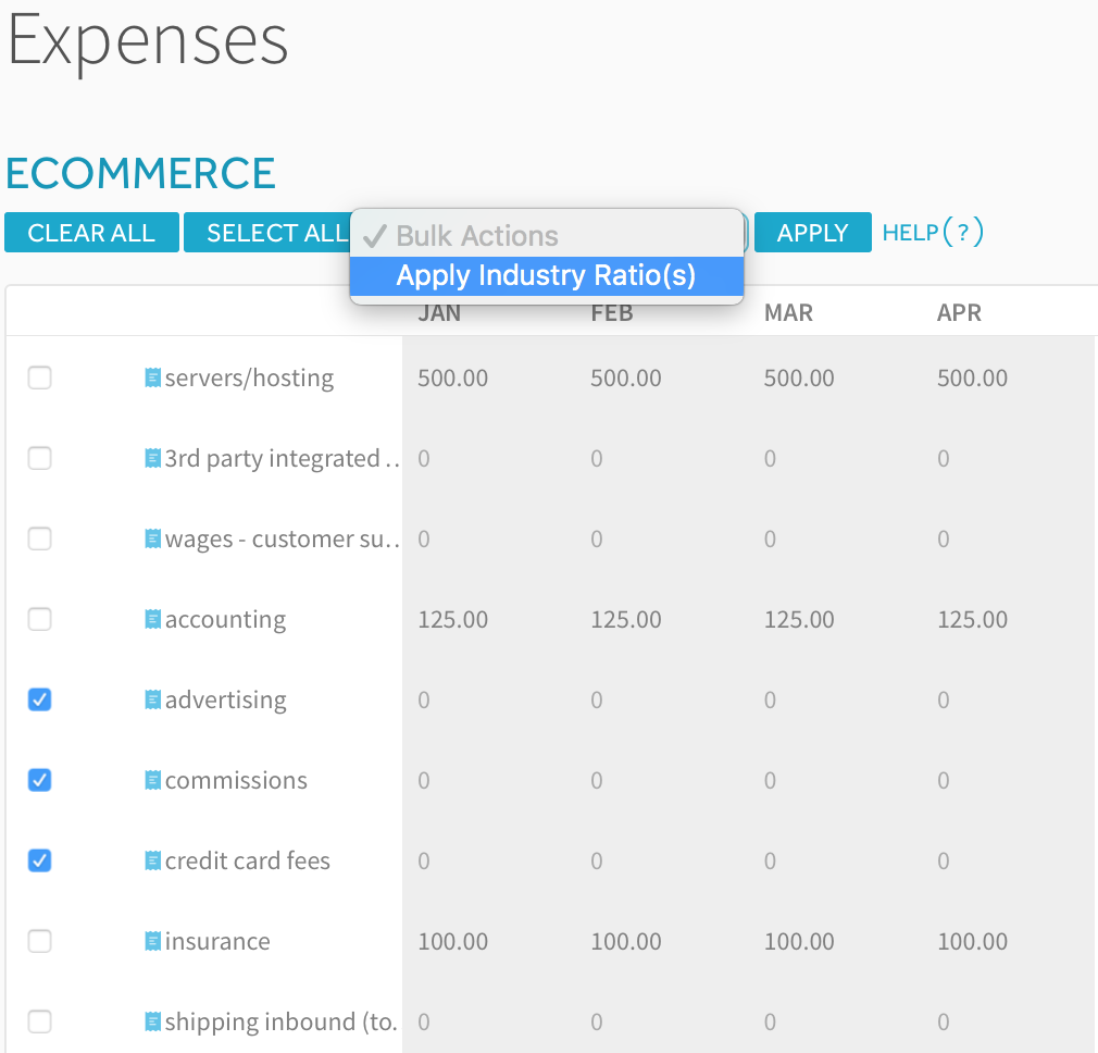 Ecommerce Financial Projections - ProjectionHub