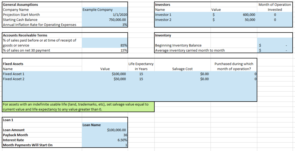 How to Create Financial Projections from a ProjectionHub Excel Template